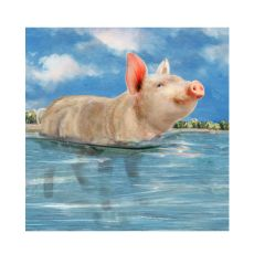 Pig In Paradise Canvas