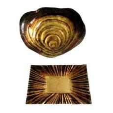 Oyster Glass Trays S/2