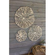 Hand Made Paper Discs Wall Art, Set of 3