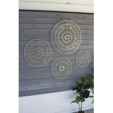 Hand Made Paper Discs Wall Art, Set of 4