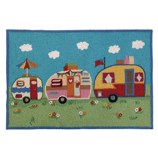 Camper Parade Hook Rug