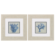 Chambray Coral Framed Art Set Of 2