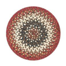 "Homespice Decor 8"" Trivet Round Chester Jute Braided Accessories"