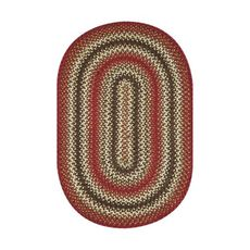 "Homespice Decor 20"" x 30"" Oval Chester Jute Braided Rug"