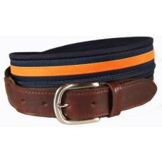 Classic Orange Stripe on Navy Belt