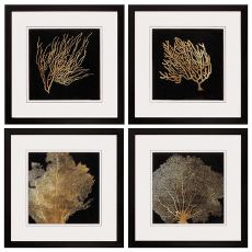 Coral Framed Art Set of 4