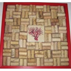 Coral With Red Wine Cork Board