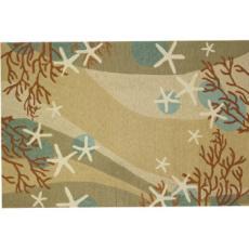 coral waves indoor outdoor rug in 5 sizes u2026