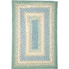 Baja Blue Rect Braid rug
