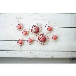 Painted Metal Crab Wall Hanger (set of 6)