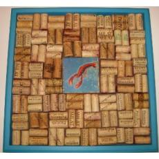 Lobster Wine Cork Bulletin Board