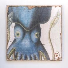 Cuttlefish Zoom Lithograph Art