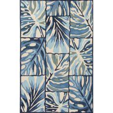 Floral & Leaves Pattern Polypropylene Design Campus-Indoor Outdoor Area Rug
