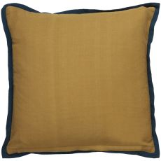 """Modern/Contemporary Pattern Ivory/Yellow Cotton Down Fill Pillow ( 18""""X18"""")"""