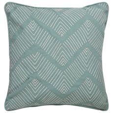 "Modern/Contemporary Pattern Green/Ivory Cotton Down Fill Pillow ( 18""X18"")"