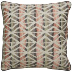 """Modern/Contemporary Pattern Ivory/Pink Cotton Down Fill Pillow ( 18""""X18"""")"""