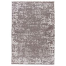 Modern Vintage Look Pattern Gray/Silver Wool And Viscose Area Rug ( 9X12)