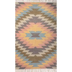 Indoor/Outdoor Tribal Pattern Multi Polyester Area Rug (8X10)