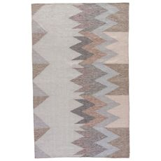 Geometric Pattern Polyester Desert Area Rug