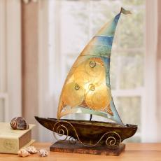 Capiz Shell  Sailboat