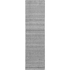 """Liora Manne Dakota Stripe Indoor/Outdoor Rug Grey 24""""X8'"""