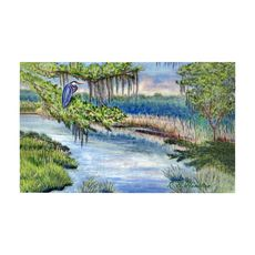 Marsh Morning Large Door Mat