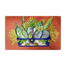Cactus in Planter Large Door Mat