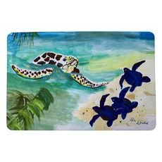 Sea Turtle and Babies Small Door Mat