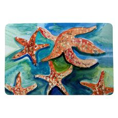 Swimming Starfish Small Door Mat