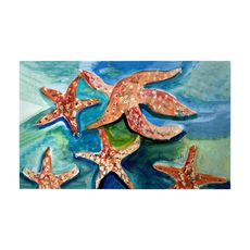 Swimming Starfish Large Door Mat