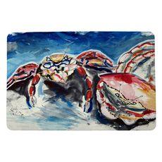 Two Red Crabs Small Door Mat