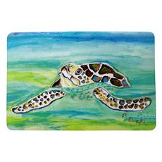 Sea Turtle Surfacing Small Door Mat