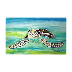 Sea Turtle Surfacing Large Door Mat