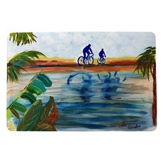 Two Bikers Small Door Mat