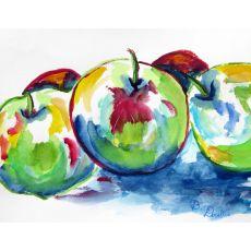 Three Apples Doormat 18X26