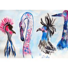 Loony Birds Doormat 18X26