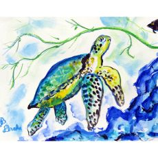 Yellow Sea Turtle Door Mat 30X50