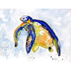 Blue Sea Turtle Door Mat 18X26
