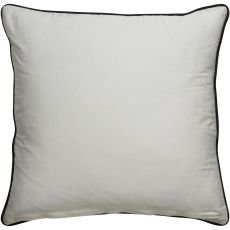 """Modern/Contemporary Pattern Ivory/Black Cotton And Polyester Down Fill Pillow ( 20""""X20"""")"""
