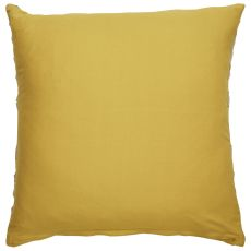"Geometric Pattern Yellow/Taupe Cotton, Wool, Naylon & Polyester Down Fill Pillow ( 22""X22"")"