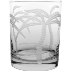 Double Old Fashion Palm Tree Glasses (set of 4)