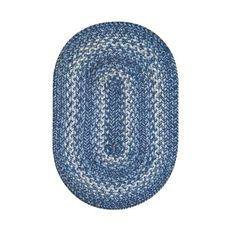 "Homespice Decor 13"" x 19"" Placemat Oval Denim Jute Braided Accessories"