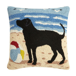 Dog and Beach Ball Hook Pillow