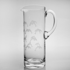 School of Dolphins Glass Pitcher 35 OZ