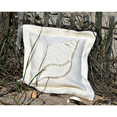 Dove Snail Sea Pillow Two-Tone