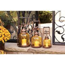 Dragonfly Nested Lantern Set, Amber (S/3)
