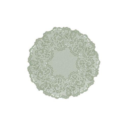 "Elizabeth 42"" Round Table Topper, Silver Sage"