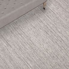 Solids Solids & Heather Pattern Gray/Ivory Wool Area Rug (9X12)