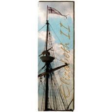 Elizabeth II Mast Wood Art