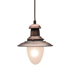 Railroad 1 Light Pendant In Antique Copper